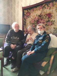 фото визит к ветеранам